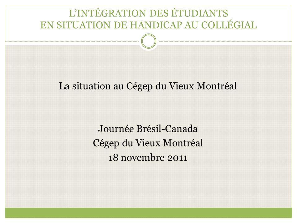 L'INTÉGRATION DES ÉTUDIANTS EN SITUATION DE HANDICAP AU COLLÉGIAL