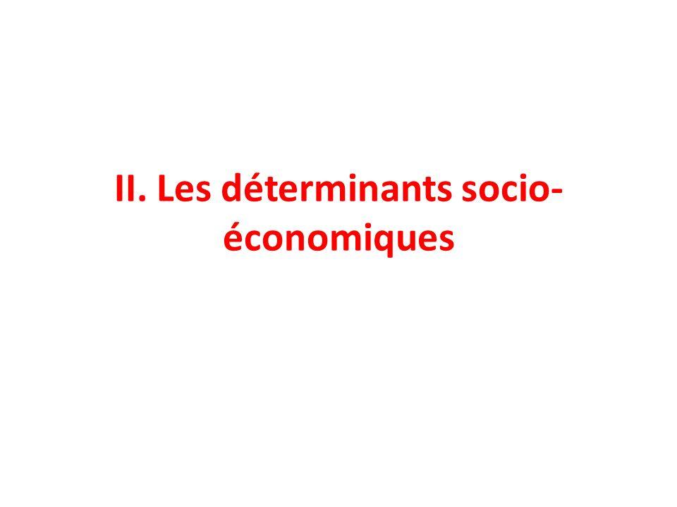 II. Les déterminants socio-économiques