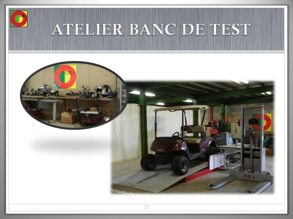 ATELIER BANC DE TEST