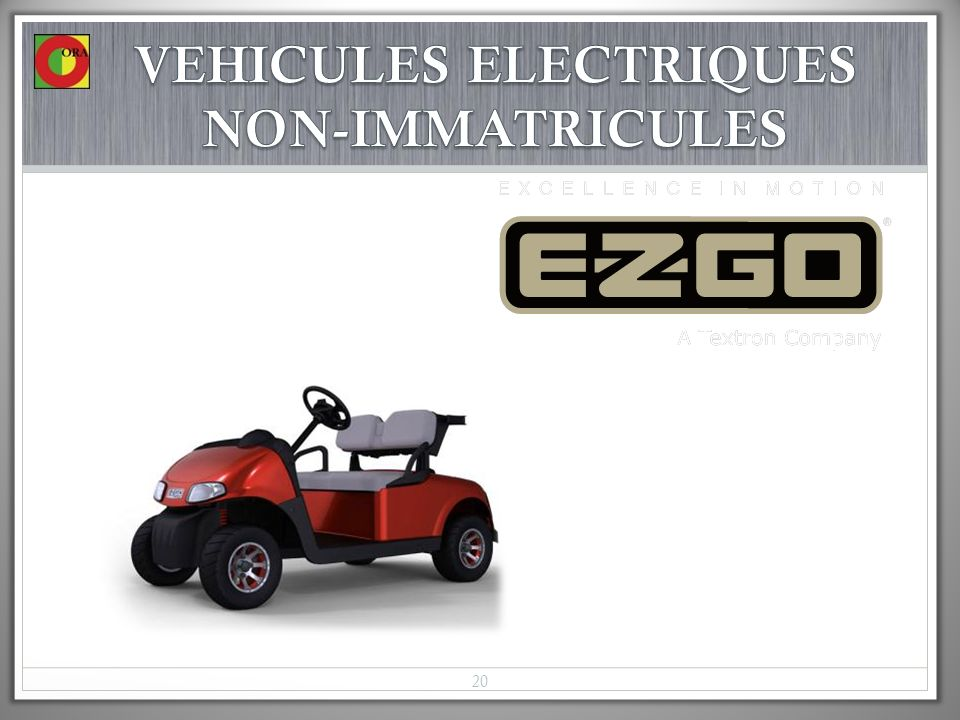 VEHICULES ELECTRIQUES NON-IMMATRICULES