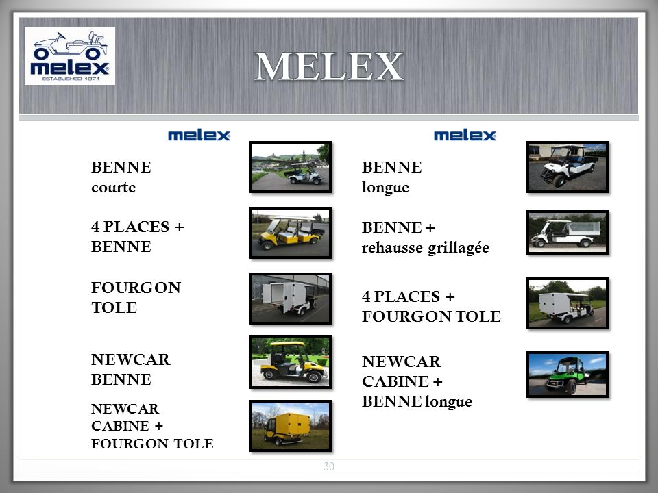 MELEX BENNE courte 4 PLACES + BENNE BENNE + rehausse grillagée