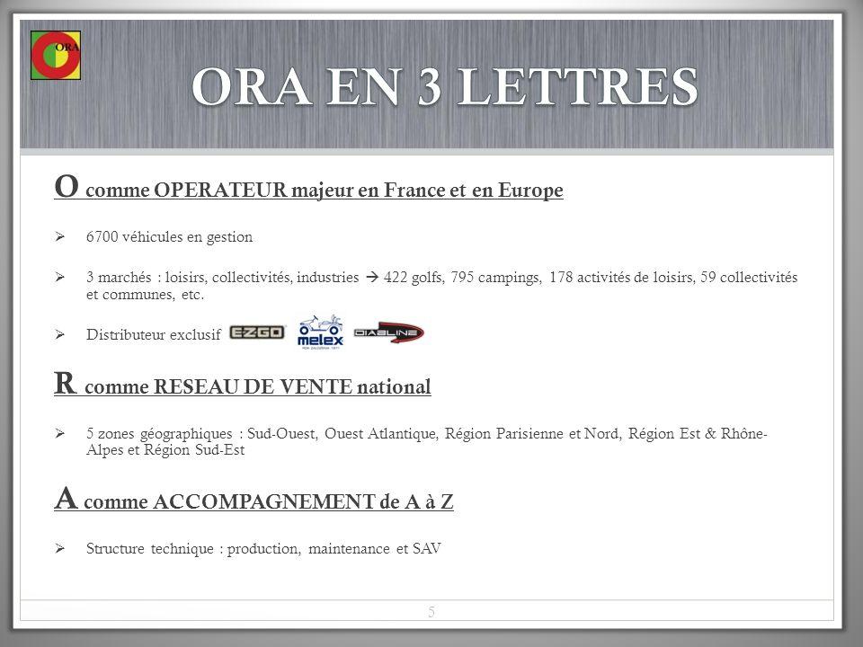 ORA EN 3 LETTRES O comme OPERATEUR majeur en France et en Europe