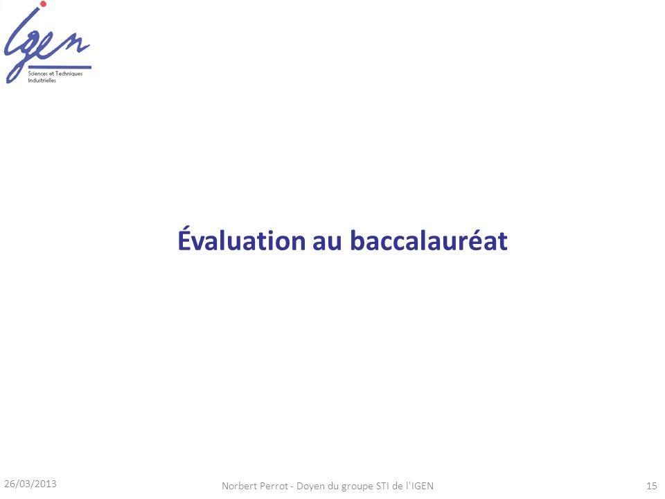 Évaluation au baccalauréat