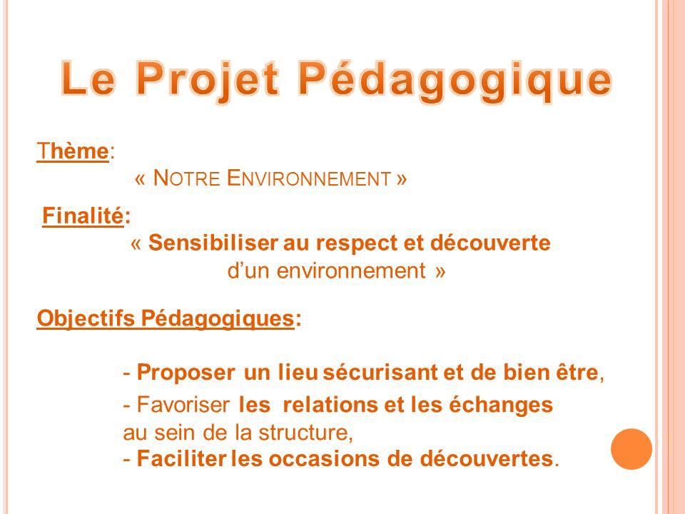 « Sensibiliser au respect et découverte d'un environnement »