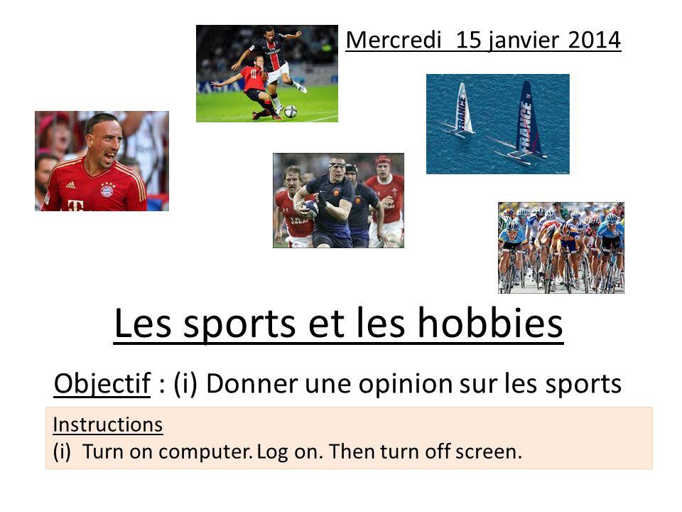 Les sports et les hobbies