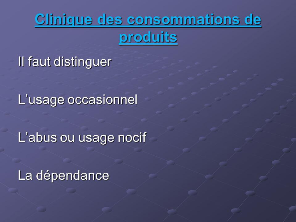 Clinique des consommations de produits