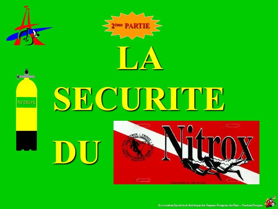 LA SECURITE DU NITROX 2ème PARTIE NITROX