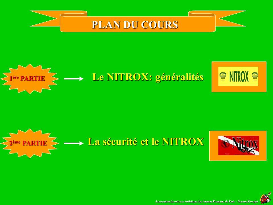 La sécurité et le NITROX