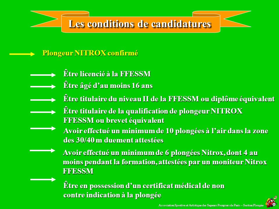 Les conditions de candidatures
