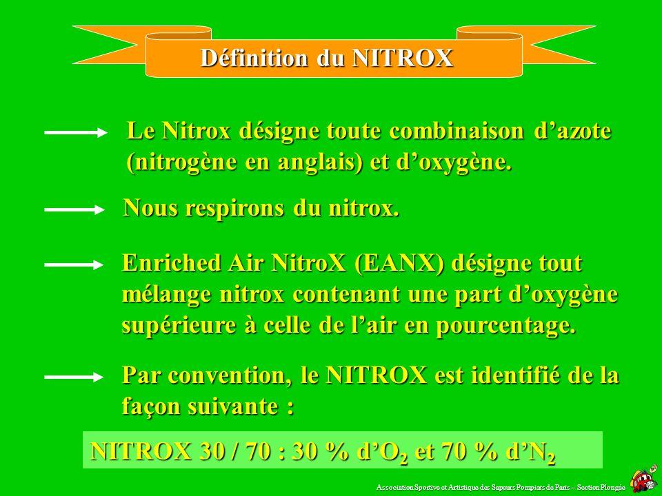 Nous respirons du nitrox.