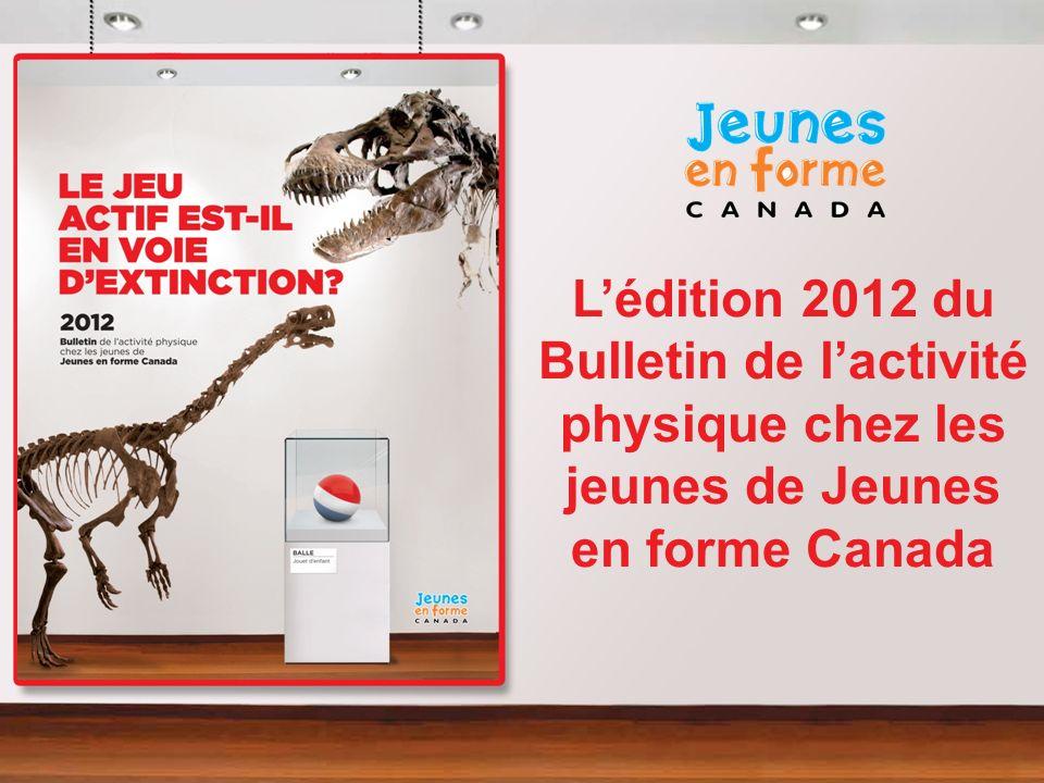 L'édition 2012 du Bulletin de l'activité physique chez les jeunes de Jeunes en forme Canada