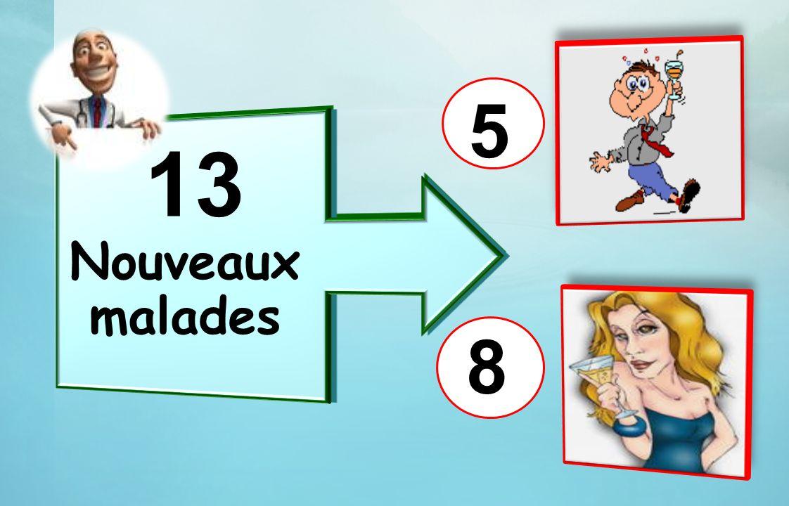 5 13 Nouveaux malades 8