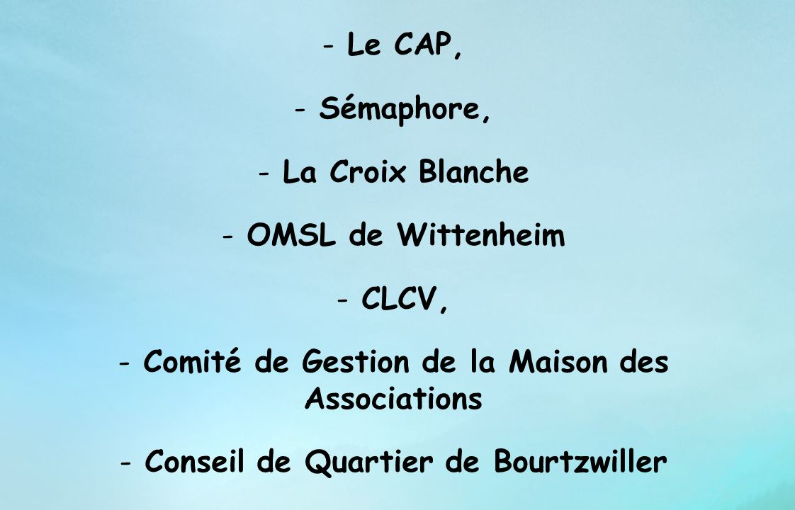 Comité de Gestion de la Maison des Associations