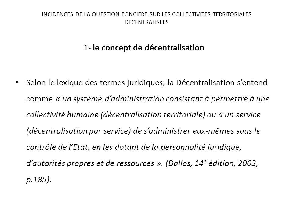 1- le concept de décentralisation