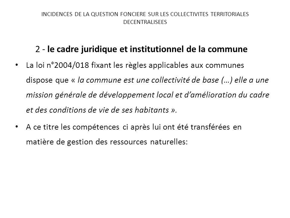 2 - le cadre juridique et institutionnel de la commune