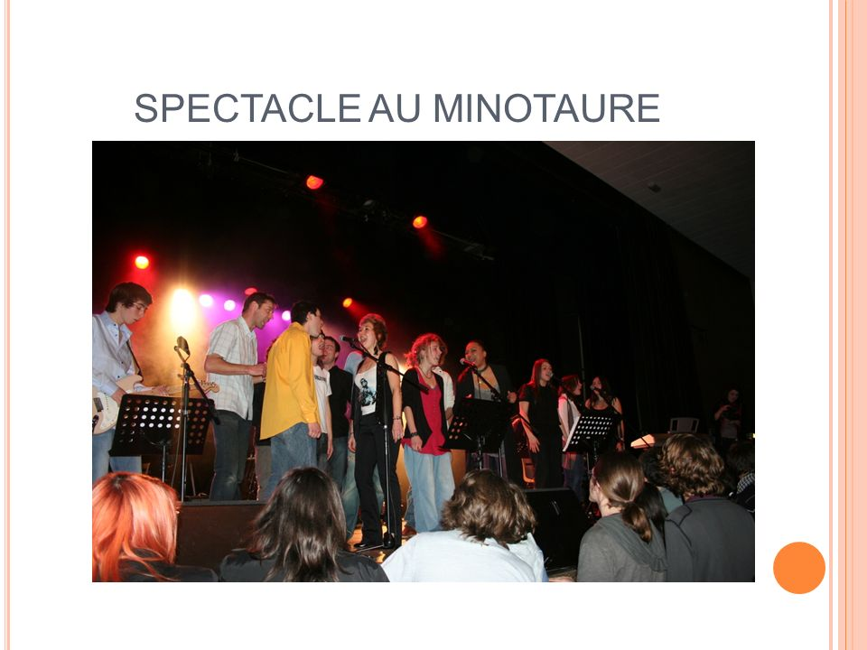 SPECTACLE AU MINOTAURE