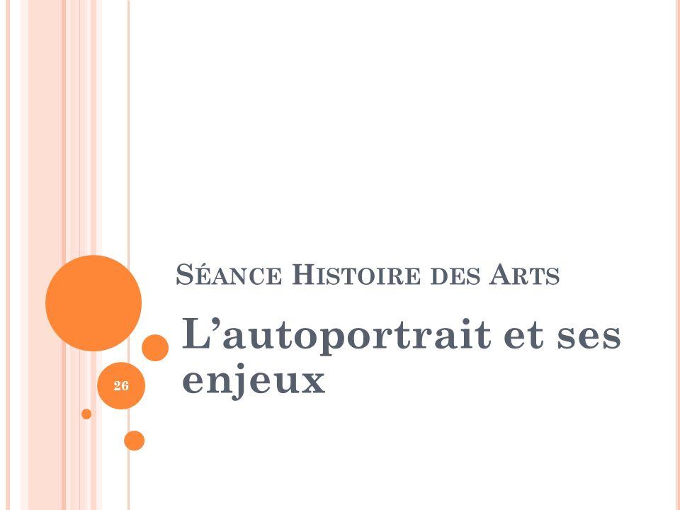 Séance Histoire des Arts