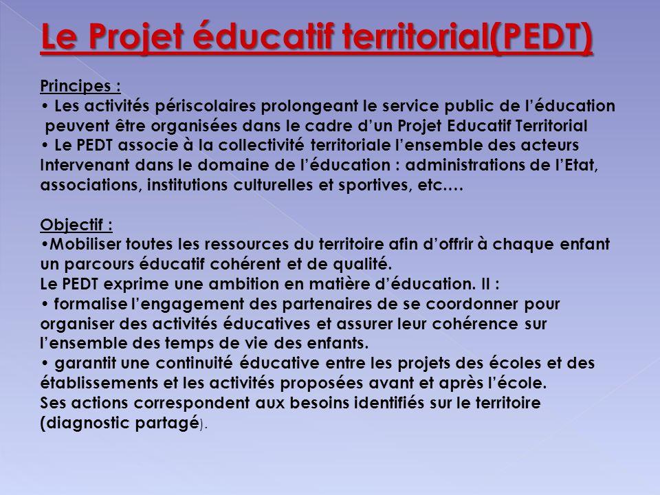 Le Projet éducatif territorial(PEDT)