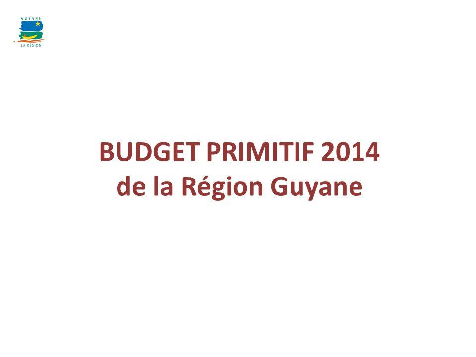 BUDGET PRIMITIF 2014 de la Région Guyane