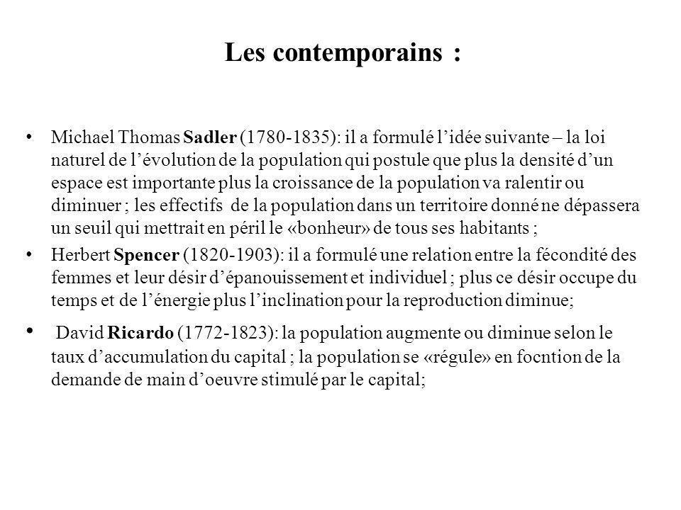 Les contemporains :