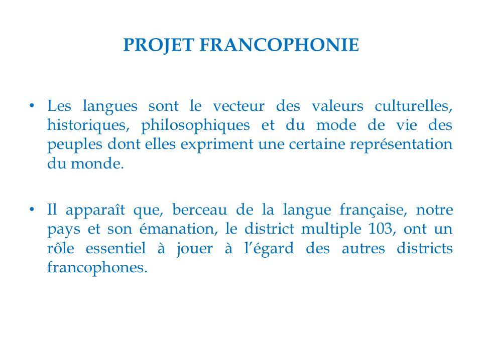 PROJET FRANCOPHONIE