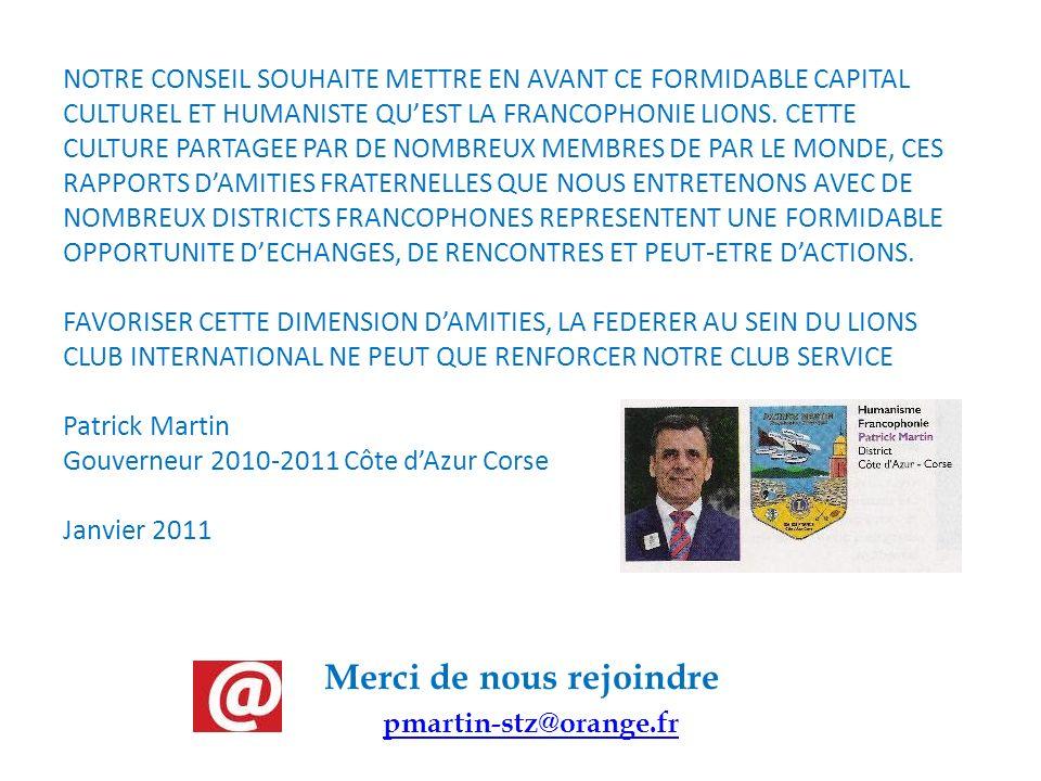 Merci de nous rejoindre pmartin-stz@orange.fr