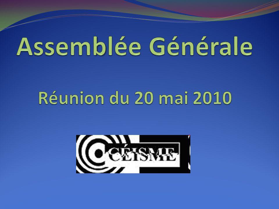 Assemblée Générale Réunion du 20 mai 2010