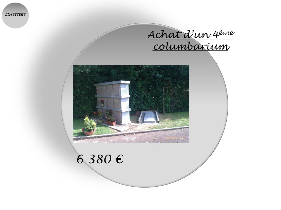 Achat d'un 4ème columbarium
