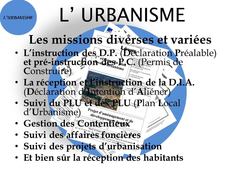Les missions diverses et variées