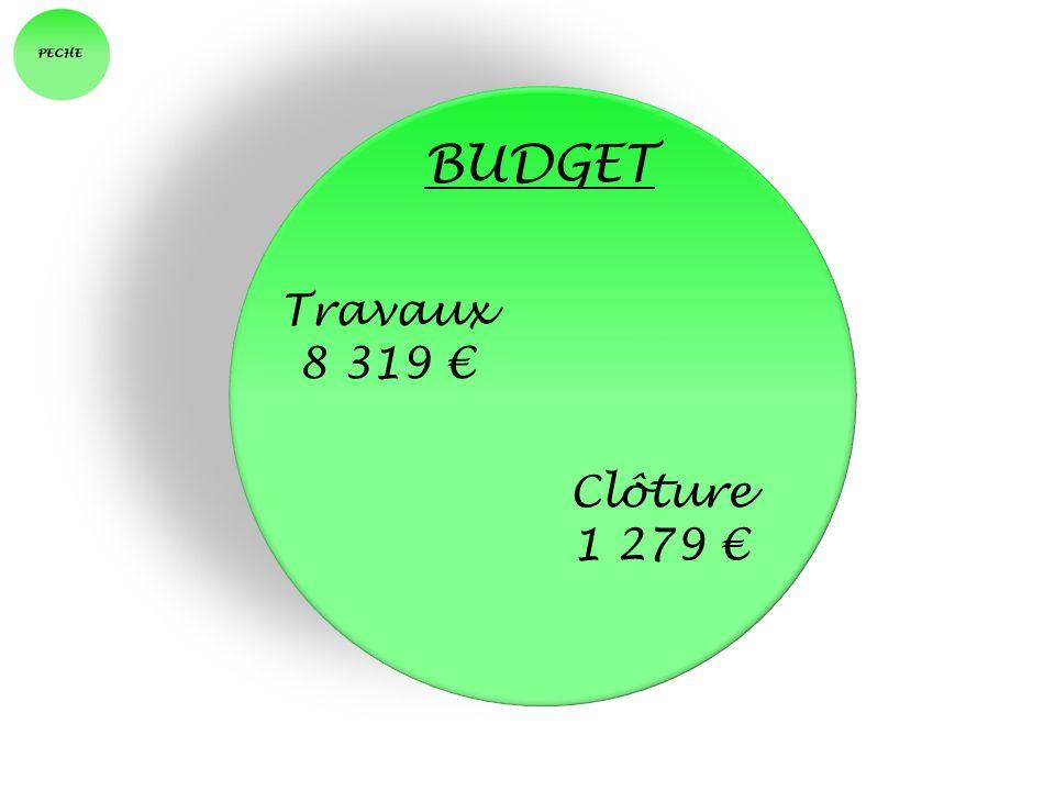 BUDGET Travaux 8 319 € Clôture 1 279 €