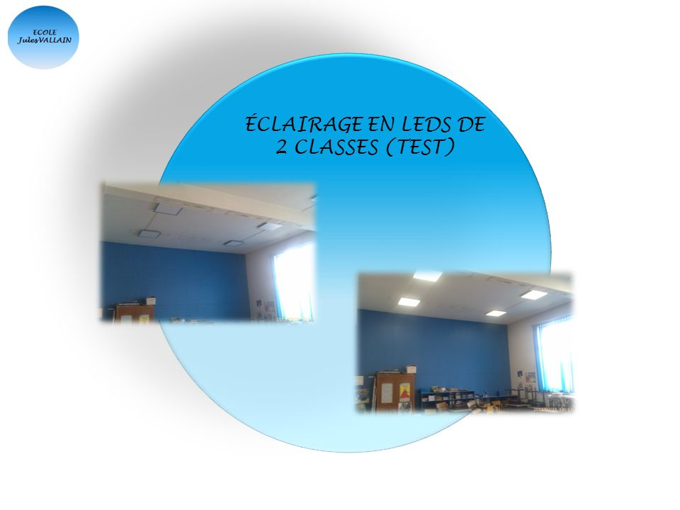ÉCLAIRAGE EN LEDS DE 2 CLASSES (TEST)