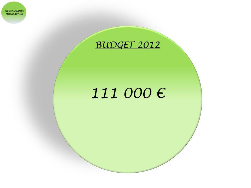 BUDGET 2012 111 000 €