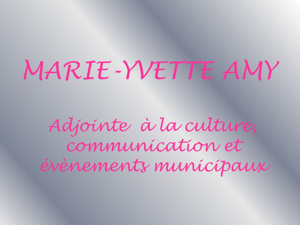 Adjointe à la culture, communication et évènements municipaux