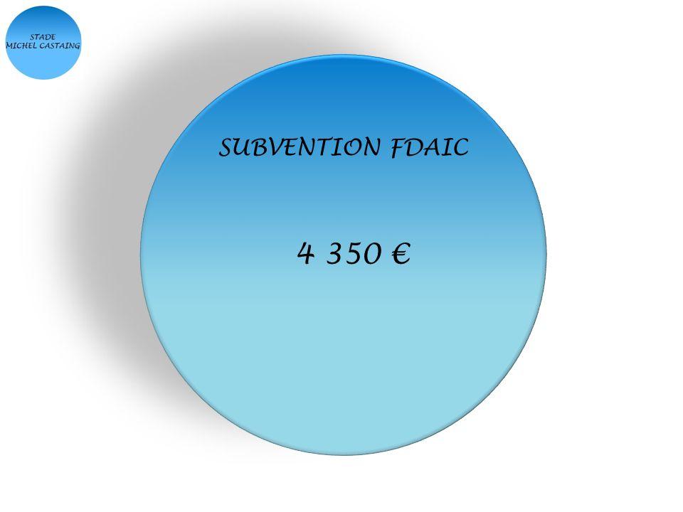 SUBVENTION FDAIC 4 350 €