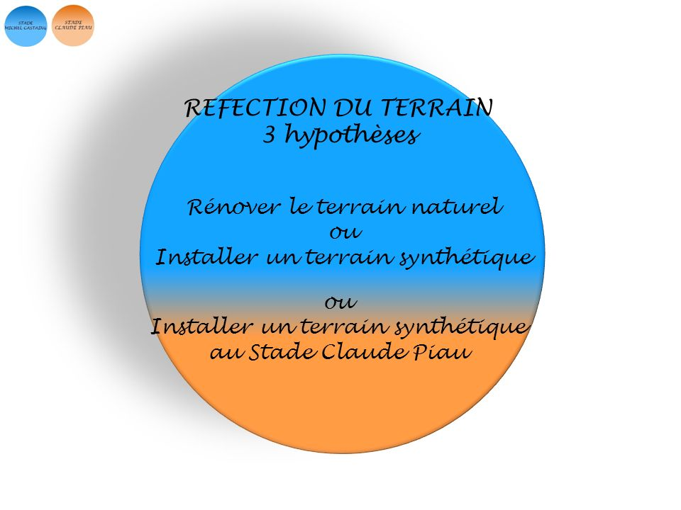 REFECTION DU TERRAIN 3 hypothèses Rénover le terrain naturel ou