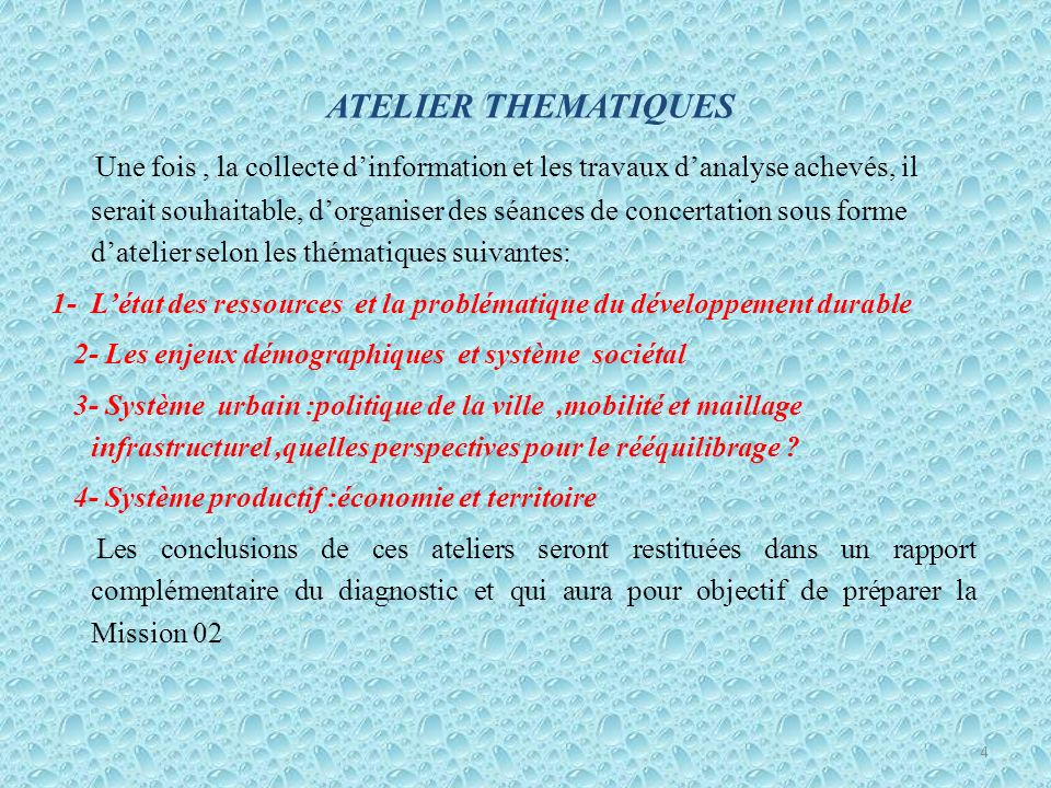 ATELIER THEMATIQUES