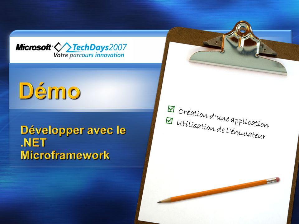 Développer avec le .NET Microframework