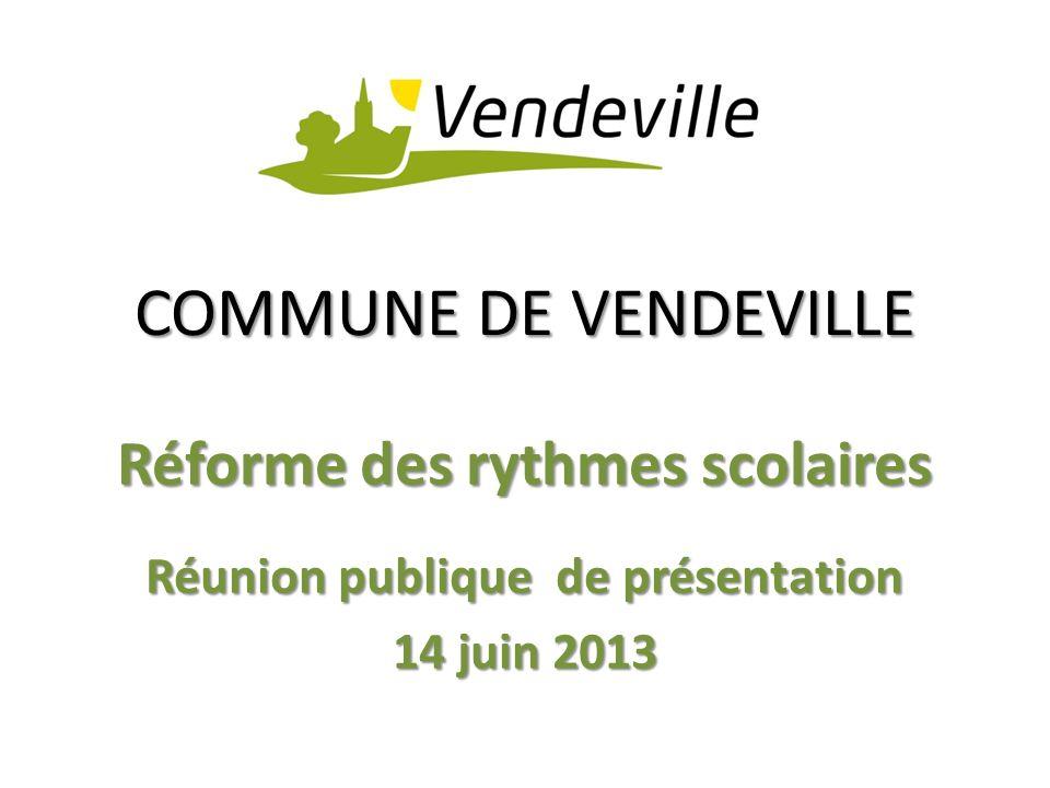 Réforme des rythmes scolaires Réunion publique de présentation