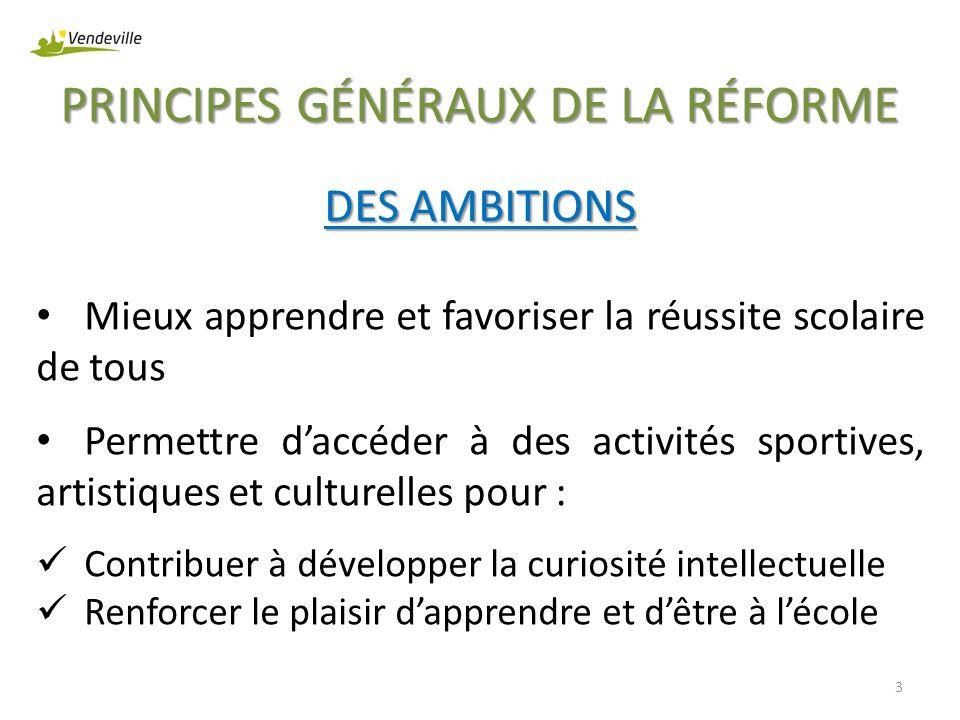 PRINCIPES GÉNÉRAUX DE LA RÉFORME