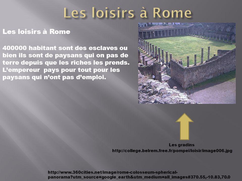 Les loisirs à Rome Les loisirs à Rome