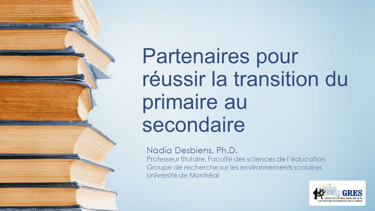 Partenaires pour réussir la transition du primaire au secondaire