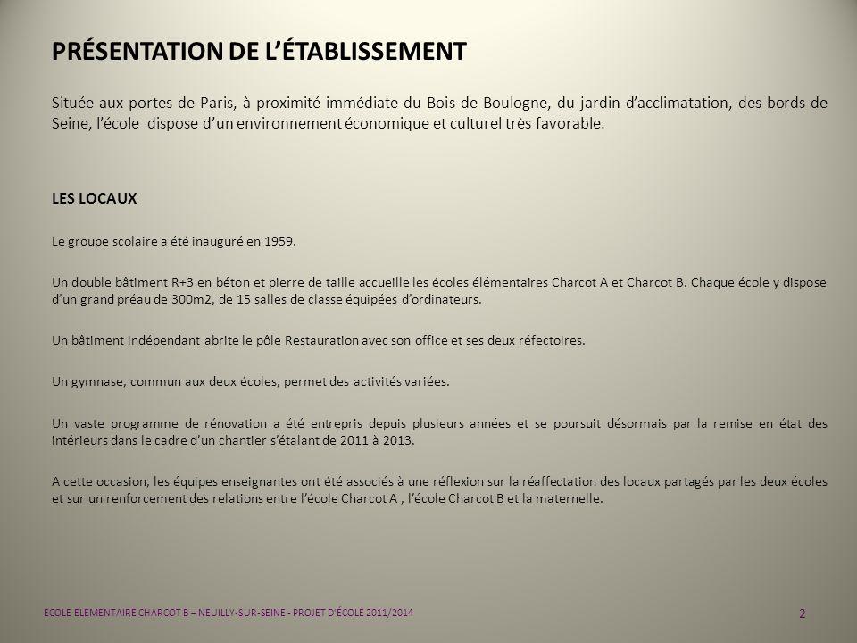 PRÉSENTATION DE L'ÉTABLISSEMENT