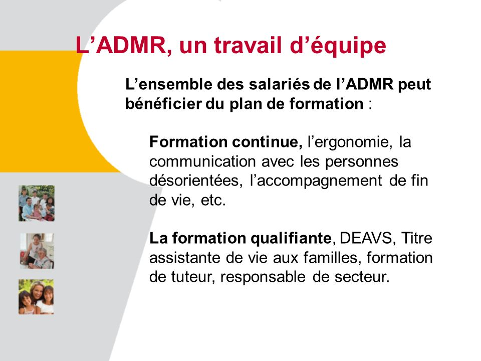 L'ADMR, un travail d'équipe
