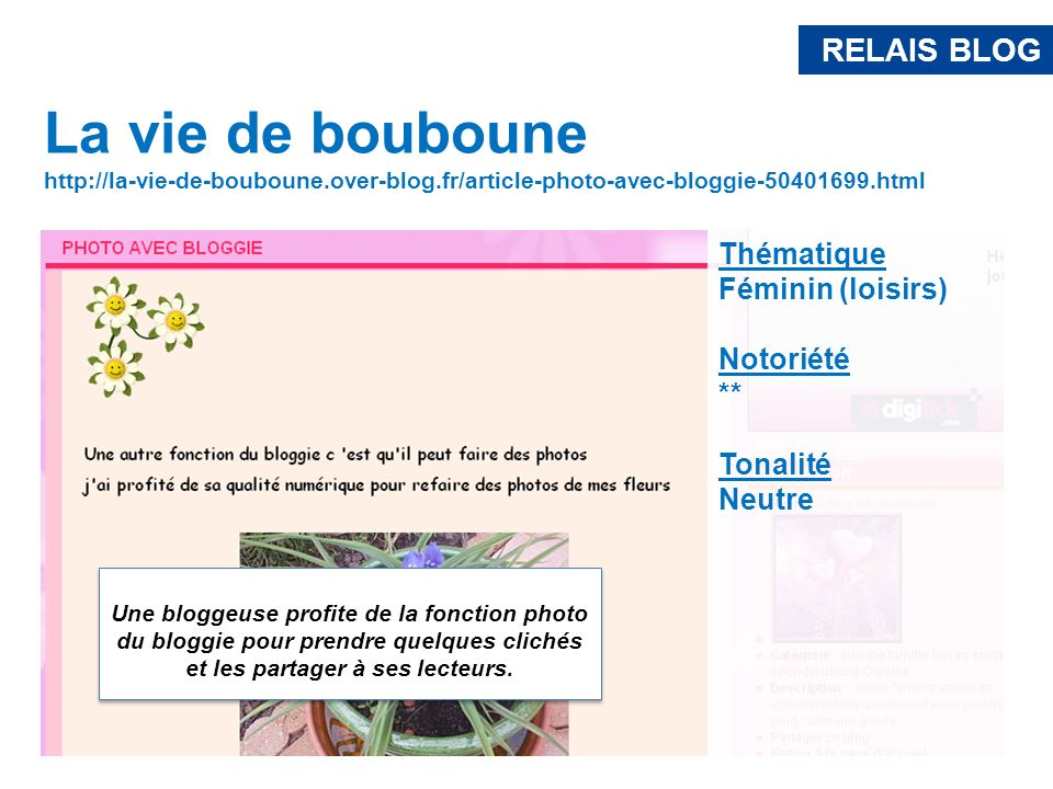 RELAIS BLOG La vie de bouboune. http://la-vie-de-bouboune.over-blog.fr/article-photo-avec-bloggie-50401699.html.