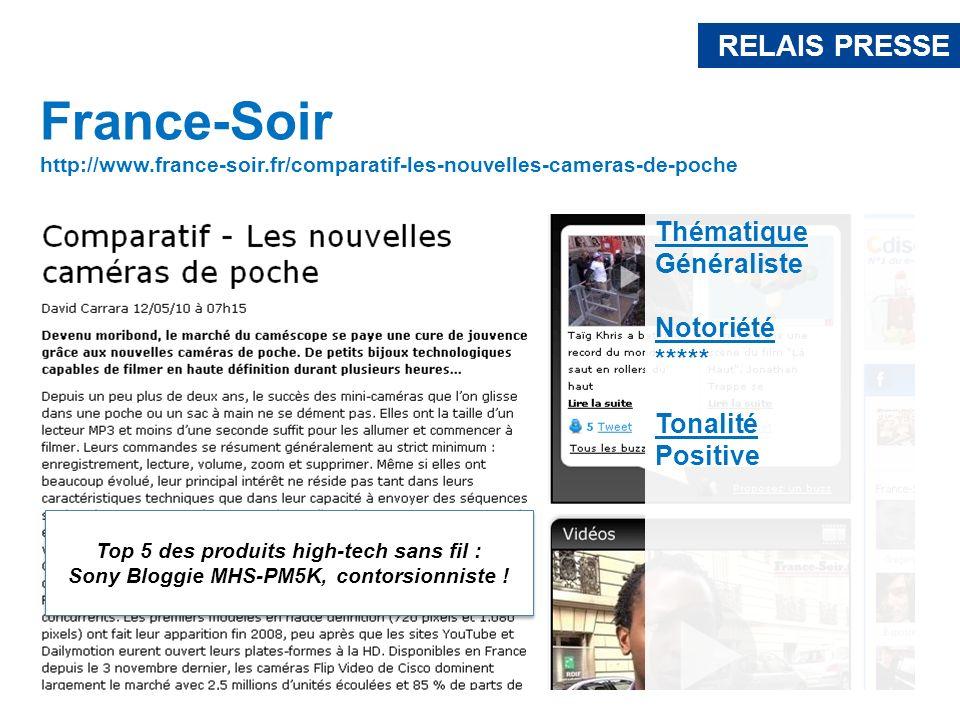 France-Soir RELAIS PRESSE Thématique Généraliste Notoriété *****