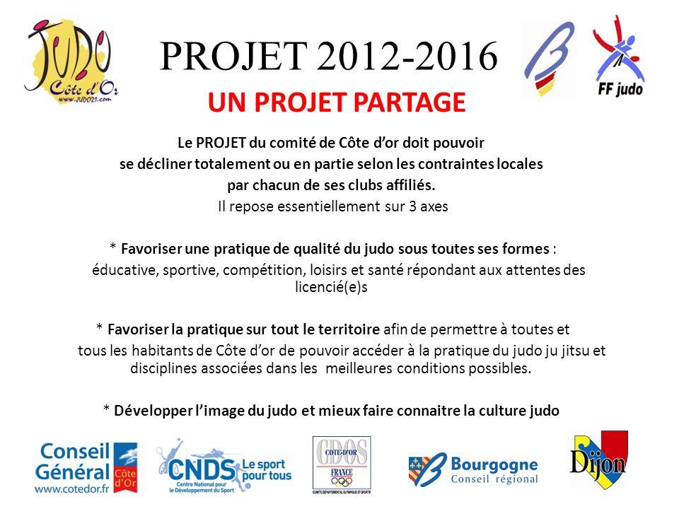PROJET 2012-2016 UN PROJET PARTAGE