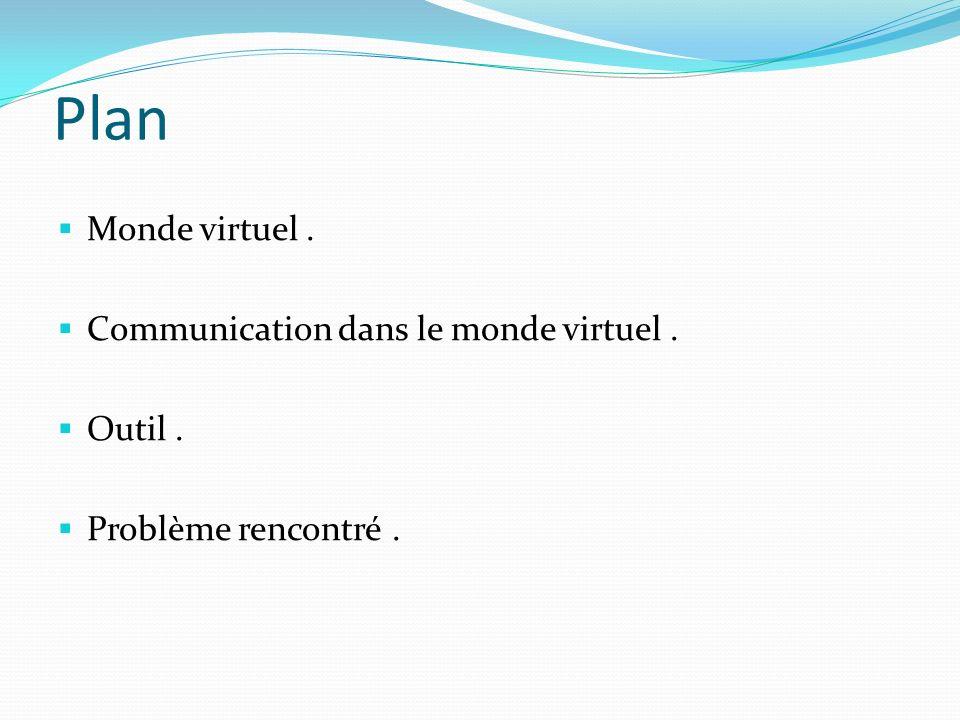 Plan Monde virtuel . Communication dans le monde virtuel . Outil .