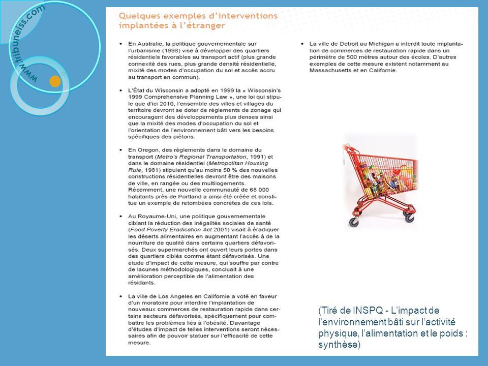 Promouvoir un mode de vie sain Malbouffe/sédentarité/obésité : Exemple