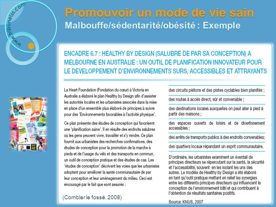 Promouvoir un mode de vie sain Malbouffe/sédentarité/obésité : Avec qui agir