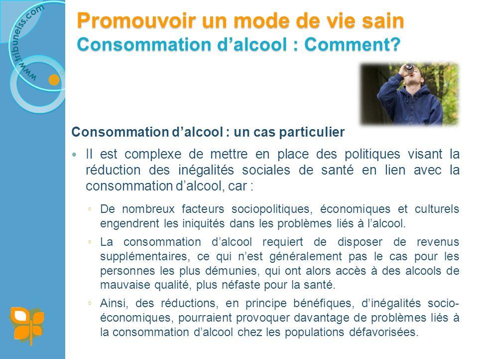 Cadre d'analytique de l'OMS des conditions d'action prioritaires de santé publique au regard des préjudices attribuables à la consommation d'alcool